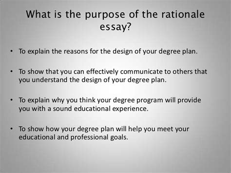 design rationale definition how to write the rationale essay