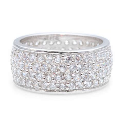 Silver Jewerly Sterling Silver Micro Pave Cz Band Sstr00256