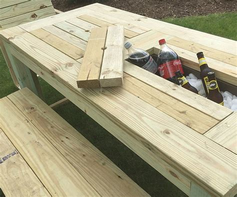 rolling cooler with built in picnic table drink cooler picnic table