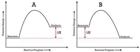 energy diagram chemistry potential energy diagram exothermic vs endothermic www