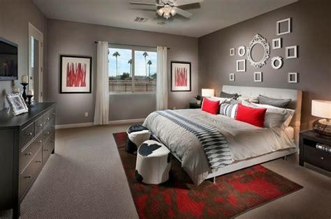 chambre gris  rouge une chambre adulte tres elegante