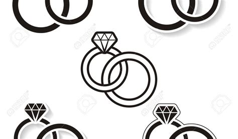 Wedding Ring Clipart Black And White by 91 Engagement Rings Clip Engagement Ring