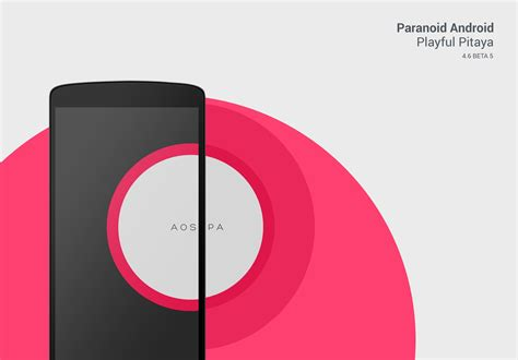 now with android 44 aokp paranoid android roms and paranoid android 4 6 beta 5 playful pitaya is here