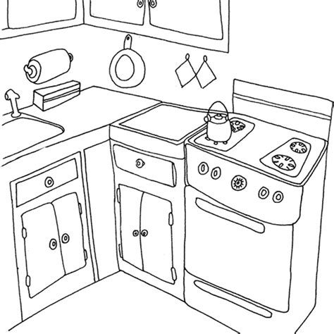 coloring page of a kitchen coloriage cuisine les beaux dessins de autres 224 imprimer