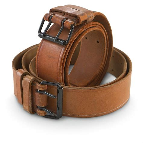 2 used leather belts brown 171698