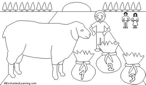 coloring page baa baa black sheep baa baa black sheep printout enchantedlearning com