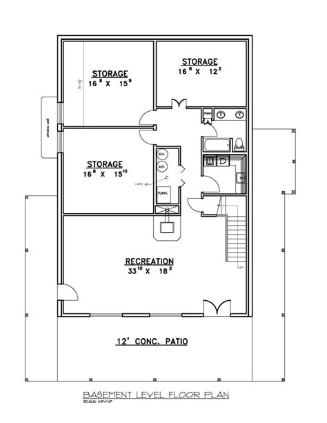 basement floor plans for ranch style homes basement house plans walkout ranch style floor monument
