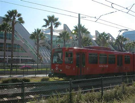 San Diego Light Rail by Convention Center