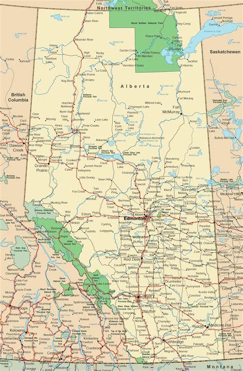 map of canada roads alberta road map