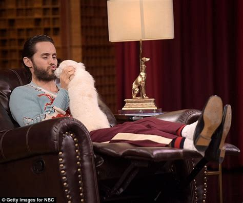 Vanity Quotes Jared Leto Kisses And Snuggles Up With Adorable Dog On
