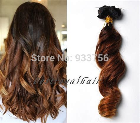 ombre hair extensions in clip in brown fashion balayage ombre hair