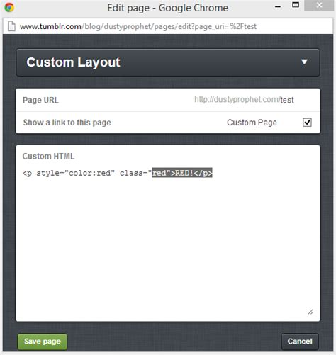 layout css inline html tumblr static page deleting inline css stack