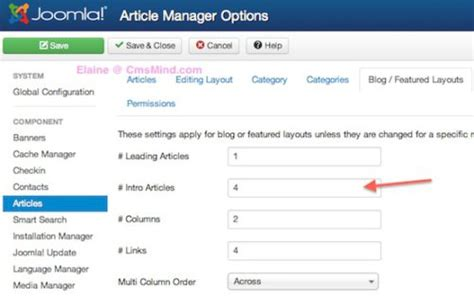 change category blog layout joomla joomla 3 0 tutorial how to change number of articles