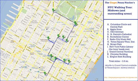 printable walking directions printable walking map of nyc let s explore all us map