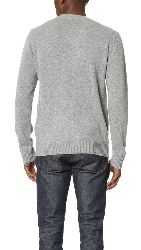 Sweater Basic Obey obey camden sweater in gray for lyst