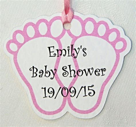 Baby Shower Favoura by Pink Baby Shower Favour Tags