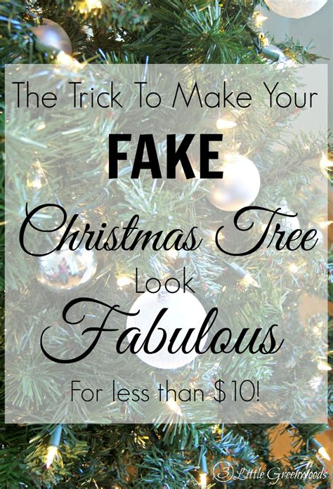 update a fake christmas tree for less than 10 by 3 little