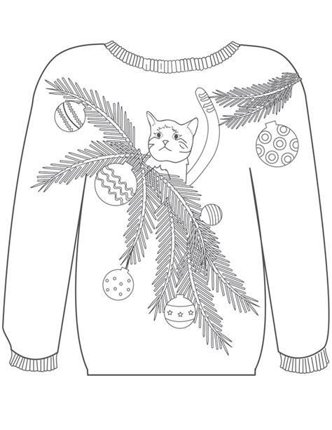 printable ugly christmas sweater 21 christmas printable coloring pages
