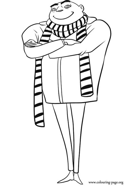 Gru Coloring Page despicable me the evil gru coloring page