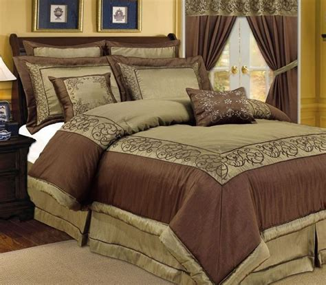 Brown And Green Comforter by Pc Vana Green Chocolate Brown Comforter Bedding Set