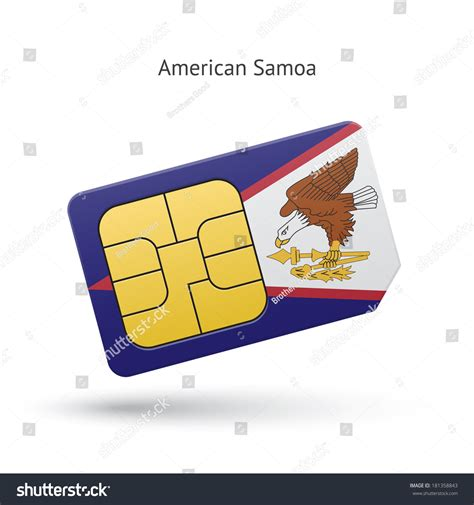 American Phone Lookup American Samoa Mobile Phone Sim Card With Flag Vector Illustration 181358843