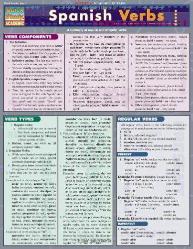 barcharts spanish grammar quizzer quick study guide spanish literacy books library 1000 images about quick study charts on equation common cores and december