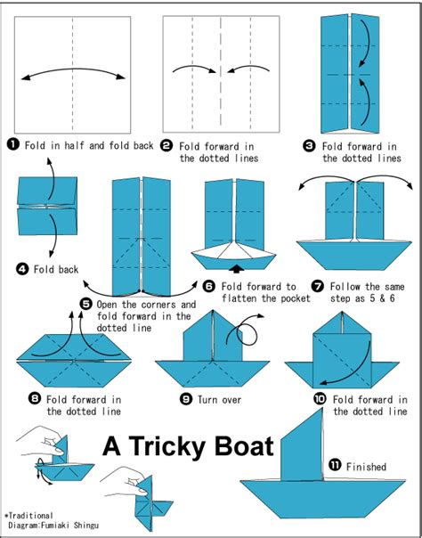 origami boat trick tricky boat easy origami instructions for kids