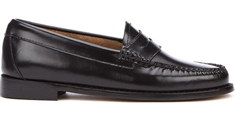 gh bass loafers uk g h bass co s leather loafers in black lyst