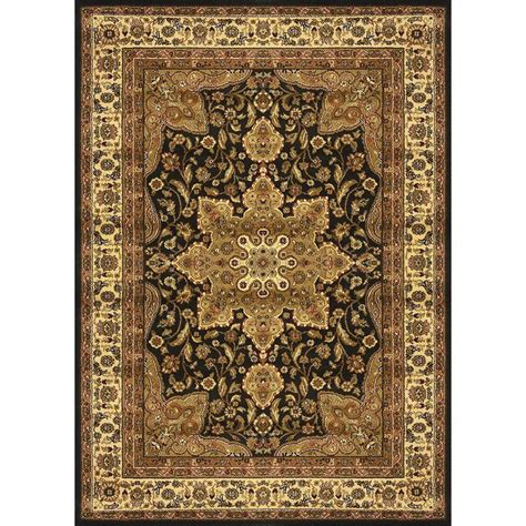 home dynamix royalty rug home dynamix royalty black 3 ft 7 in x 5 ft 2 in indoor area rug 3 8083 450 the home depot