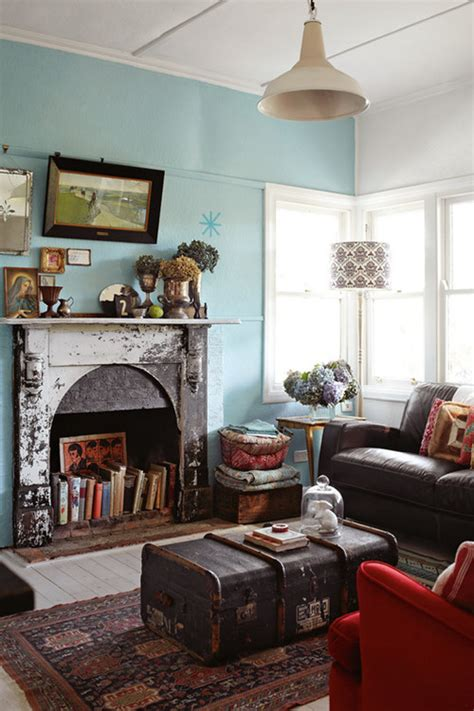 eclectic living rooms flea market style town country living