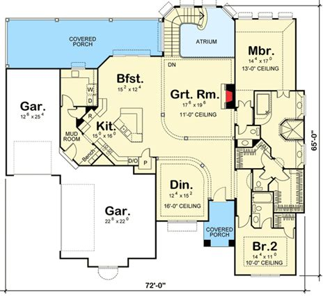 plan 16320md outdoor atrium house plans rec rooms and home magnificent home plan for a sloping lot 62595dj 1st