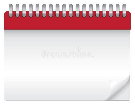 blank daily flip calendar blank calendar stock vector illustration of clear