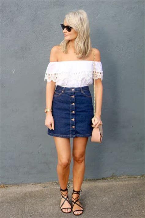 Doff Mini White best 25 denim skirt ideas on denim