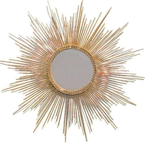 gold leaf starburst mirror midcentury wall mirrors