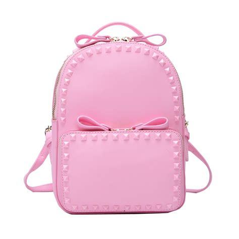 light pink leather backpack pink backpack purse backpacks eru