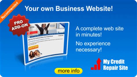Credit Repair Business Website Template Credit Aid Pro Catalog Start A Credit Repair Business