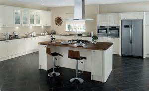 Kitchens With An Island Leighton Gloss Cream Kitchen Units Magnet