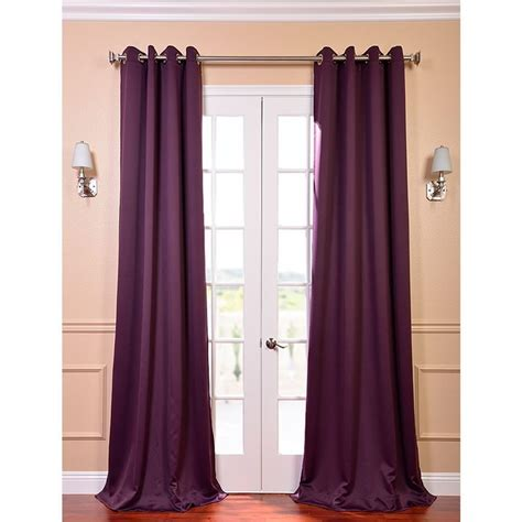 purple drapery panels exclusive fabrics furnishings semi opaque aubergine