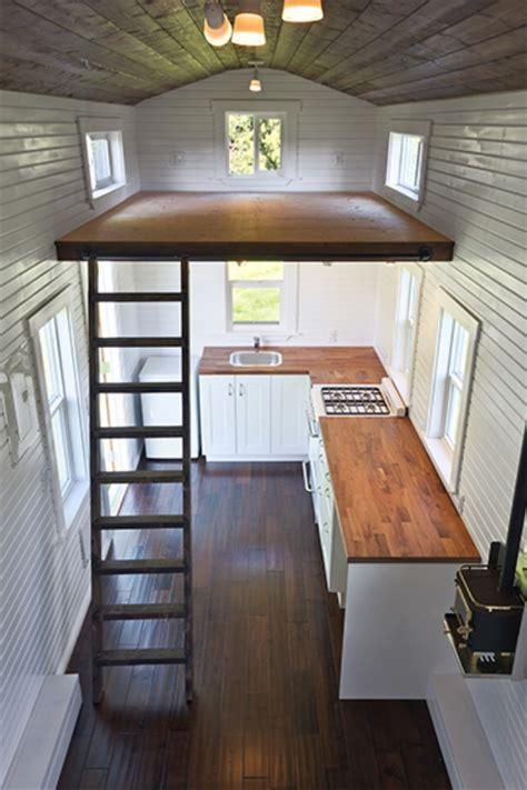 tiny house seating loft by mint tiny house company will you feeling high and lofty tiny houses