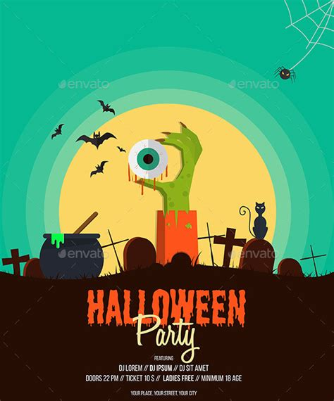 design halloween poster halloween party poster by graphics4u graphicriver