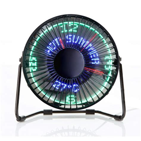 Usb Fan Clock clock and temperature mini usb desk fan cool stuff to buy from everything and stuff