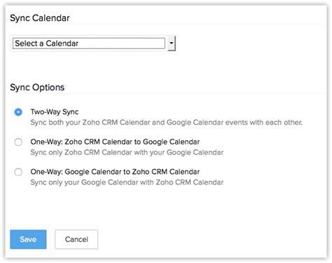 G Calendar Sync Synchronizing With G Suite Calendar Help Zoho Crm
