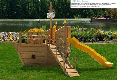 type pirate ship backyard playset design hideout