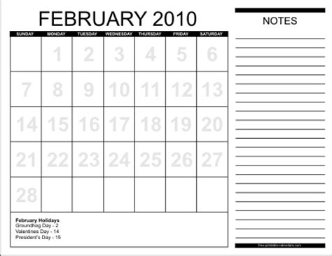 February 2010 Calendar Pin Calendar February 2010 Hearts On
