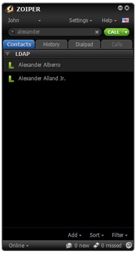 tutorial php ldap setting up zoiper to retrieve contacts from an ldap server