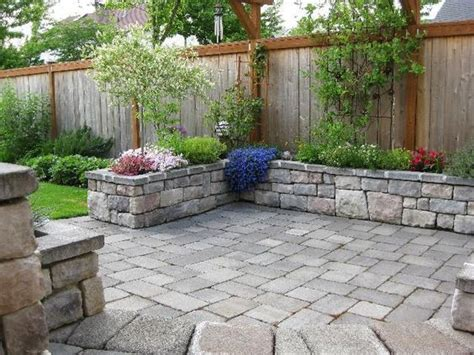 stone patio bench design stone patio with stone planter or bench around perimeter