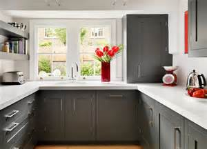 Narrow Glass Cabinet Dark Grey Shaker Kitchen From Harvey Jones