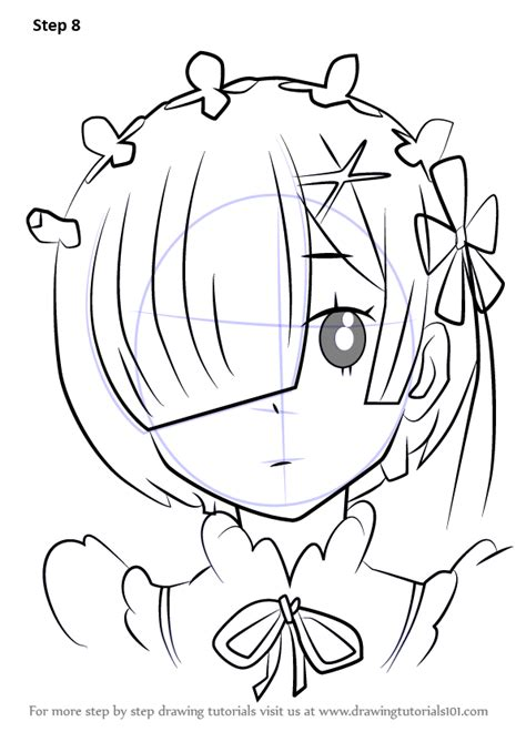 how to draw doodle draw step by step how to draw rem from re zero