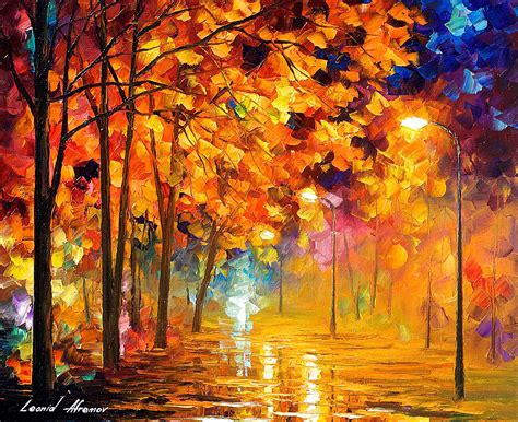 best l for painting autumn in the park palette knife painting on canvas