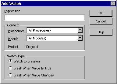 add watch dialog box microsoft docs